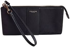 Coach Box Legacy Signature Zippy Wristlet 50871 Black
