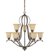 designers fountain radford 9 light chandelier in forged sienna 82689 fsn photo