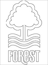 Nottingham Forest Fc Logo Kleurplaat Gratis Kleurplaten