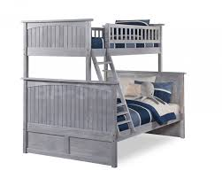 Driftwood Bedroom Furniture Nantucket Twin Full Bunk Bed Driftwood Grey Bunk Beds