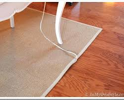 photo 4 of 6 flat extension cord under rug carpet