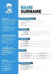 Minimalist Resume template Visual Cv Template Minimalist Resume With Simple Design 75
