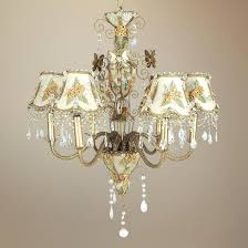 beige victorian splendor six light chandelier lamps plus shades kichler chandeliers small crystal foyer dining lighting tannery bronze affordable unique
