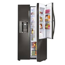 refrigerator 7 5 cu ft. lg black stainless steel series 22 cu. ft. side-by-side counter refrigerator 7 5 cu ft i