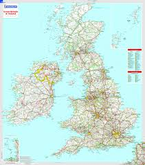 great britain and ireland  michelin encapsulated wall map