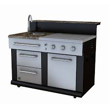 master forge 3 burner modular outdoor kitchen sink and side burners lowe s canada