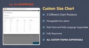 Custom Size Chart Opencart Custom Size Chart
