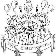 Funtime Foxy Coloring Pages Sister Location Coloring Page Funtime