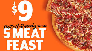 Little Caesars Unveils New 9 5 Meat Feast Pizza Chew Boom