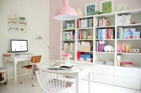 white airy home office. home office white airy