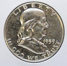 1959 Franklin Half Dollar Value Chart 1959 Franklin Half Dollar Liberty Bell Coin Value Prices