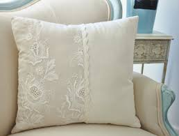 indian antique french cushions. Vintage French Cutwork Embroidery Pillow W/cream Big Floral Design Indian Antique Cushions