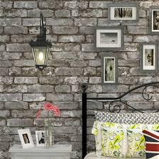 grey brick wallpaper roll 3d effect