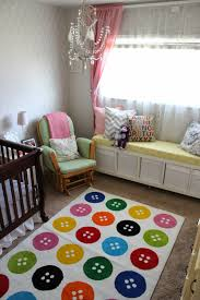 mommy vignettes updated nursery photos ikea tastrup on rug i am still loving the window bench i made it s very functional and holds a ton of toys and