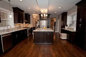 Dark Wood Floors In Kitchen Espresso Kitchen Cabinets With Dark Wood Floors Ginkofinancial