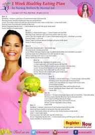 Nursing Mothers Diet Plan The Best Balanced Weight Loss