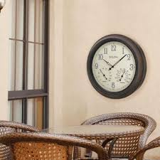 w outdoor wall clock with