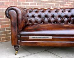 Leather Couch Restoration Furniture Leather Couch Genuine Leather Chesterfield Sofa