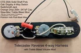 telecaster 4 way reverse wiring harness cts sprague treble bleed mod image is loading telecaster 4 way reverse wiring harness cts sprague