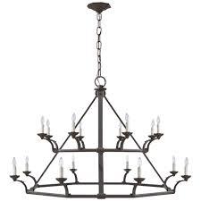 robertson double tier chandelier in natural rust