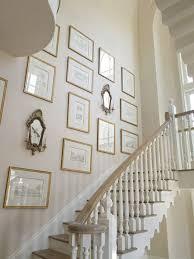 vintage stair gallery wall design
