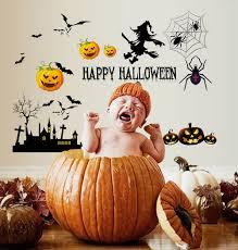 <b>Halloween Pumpkin</b> & Witch | Wall Decal | <b>Halloween Wall Stickers</b> ...