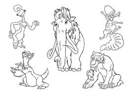 Small Picture The Animals of the Ice Age Characters Coloring Pages Batch Coloring