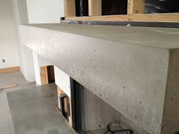 concrete fireplace mantel planters