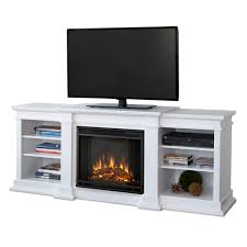 real flame 72 in w white led electric fireplace