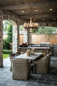rustic outdoor chandelier
