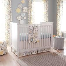 curtain home ideas nursery blue crib curtains lime green bedding