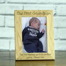 leather travel photo frame uk personalised grandson photo frame