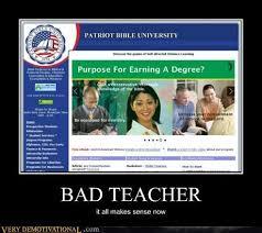 GAGBAY - Bad Teacher,hilarious,makes sense,meme via Relatably.com