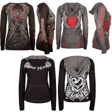 Details About Tattoo Hoodie Graphic Tee Top Metal Mulisha