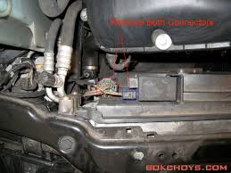 bmw e46 thermostat replacement discount the 2 wiring harnesses from the fan