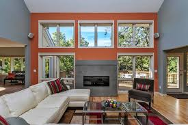 designing accent wall painting color ideas for room modern grey living room fireplace with orange wall accent wall painting colors ideas fo