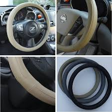 circle cool beige leather steering wheel cover medium 14 25 to 15 25 universal fit wc570 00200 beige m 57006