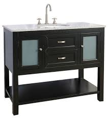 42 inch bathroom vanity with glass cabinet image
