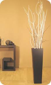 Give Your Room a Little Height: Black Floor Vase with Mitsumata Branches