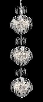 spiral clear crystal chandelier w 9 lights in chrome