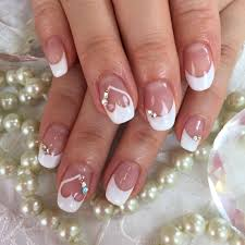Elegant French Manicure Designs French Nail Designs For Wedding Elegant 24 Lovely French
