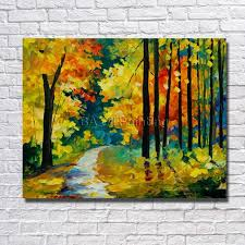 ba oil painting 100 hand painted modern design knife canvas painting small tree road
