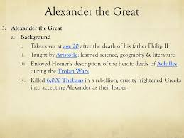 outcome alexander the great hellenistic culture ppt 8 alexander