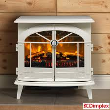 dimplex fullerton optiflame electric stove in dove white 2kw