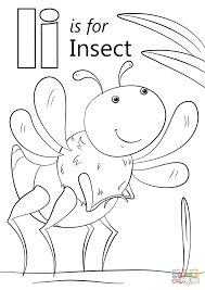 letter i is for insect coloring page in insect coloring pages