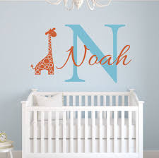 custom name elephant wall stickers for kids room personalized boys name bedroom nursery wall art pic baby vinyl wall decals d671 in wall stickers from home  on personalized wall decor for nursery with custom name elephant wall stickers for kids room personalized boys