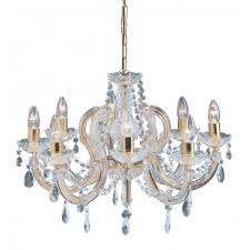 marie therese chandelier 8 light gold brass crystal
