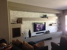 living room wall faux drywall mdf painted wall daggr design fake drywall