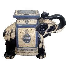 ceramic elephant garden stool ceramic