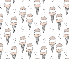 sweet scandinavian summer ice cream cones in black and white and soft pastels gender neutral fabric